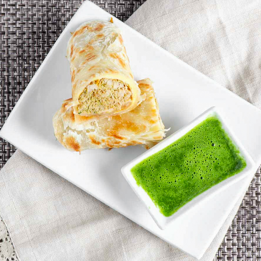 Roti Paratha Chicken Kati Roll